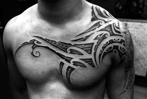 collar bone tribal tattoos 50 collar bone tattoos for clavicle design ideas