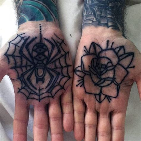 palm tattoos for men 80 spider web designs for tangled pattern ideas