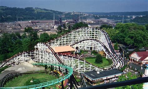 pittsburgh parks kennywood amusement park pittsburgh pa roller coasters parks