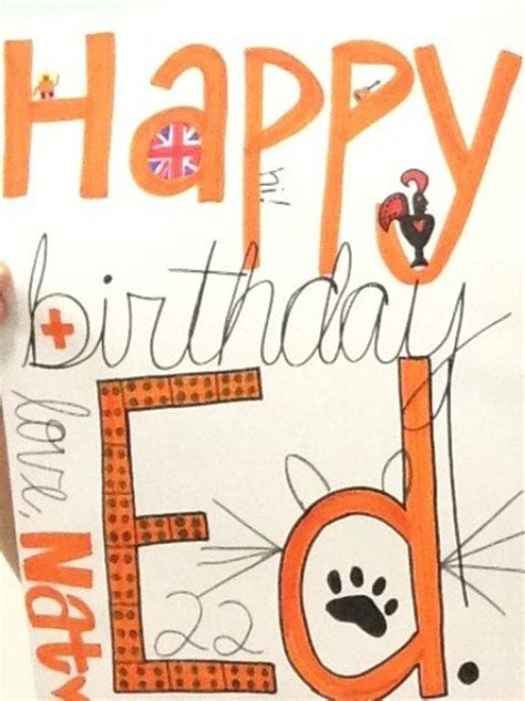 Ed Sheeran Birthday Card Natalienouri Ed Sheeran S 22nd Birthday Card Capital