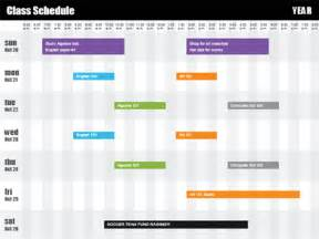 Class Schedule By Time Free Time Schedule Template