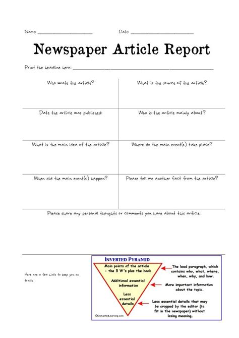 newspaper article review template best template idea