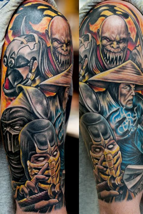 mortal kombat tattoos brettrager s portfolio empire newark
