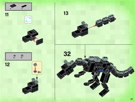lego dragon tutorial lego minecraft ender dragon tutorial