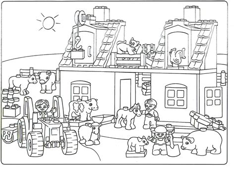 free coloring pages of brick