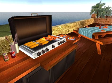 bbq grill picnic table second marketplace cookout bbq grill and