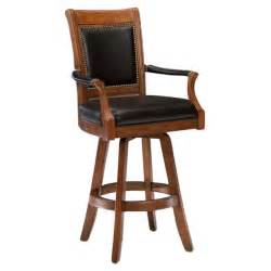 home accents wall: kingston swivel leather back bar stool dcg stores