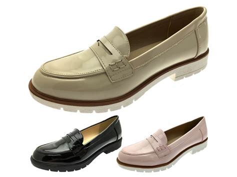 flat comfort shoes womens slip on flat loafers faux leather moccasins