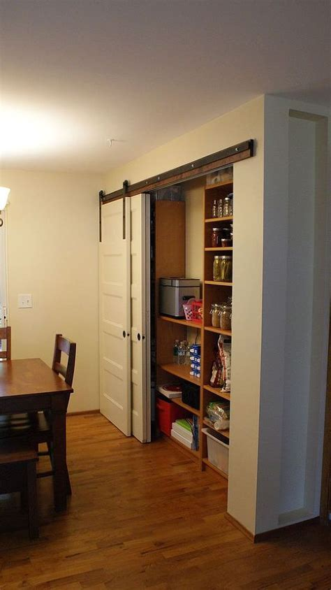 Remodelaholic 25 Clever Kitchen Storage Ideas Barn Doors For Pantry