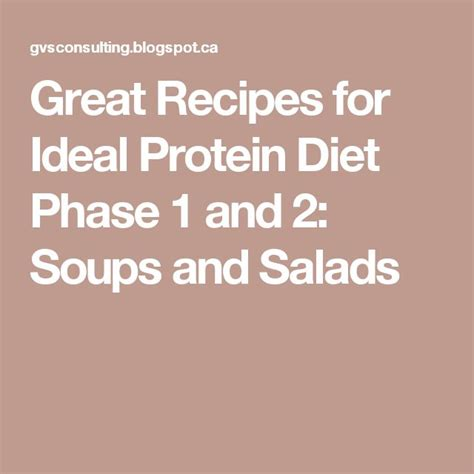 Ecology Phase 1 Soup Recipe Detox by 25 Best Ideas About Ideal Protein Phase 2 On