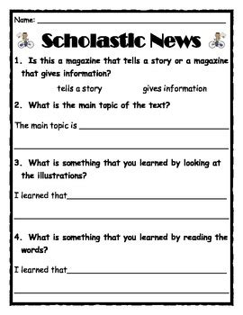 Common Core Scholastic News and Weekly Reader