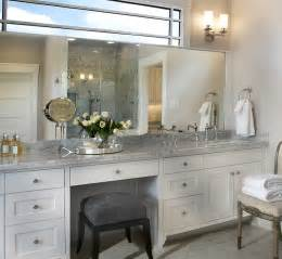 built in makeup vanity traditional bathroom