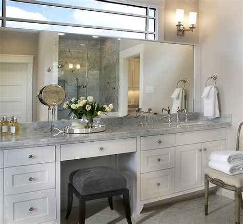 bathroom cabinet with makeup vanity built in makeup vanity traditional bathroom