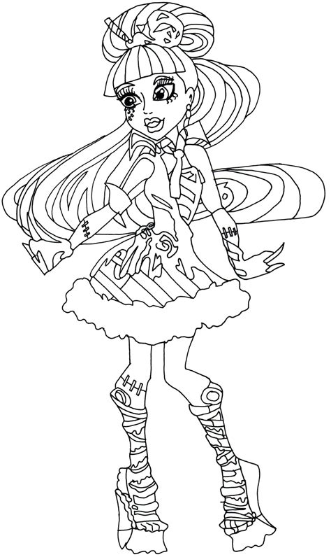 dress coloring pages games dress monster high coloring page coloringsuite com