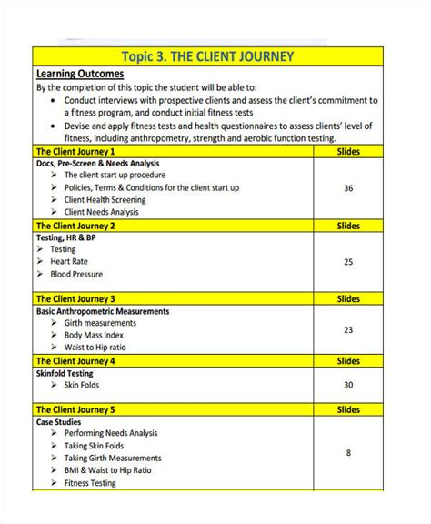 client study template 46 needs analysis exles sles