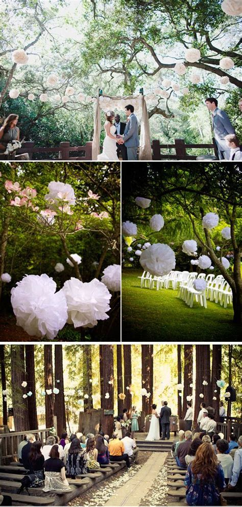 Five Ways to Decorate Your Garden Ceremony   Paper pom