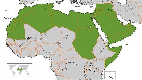 arab league map file arab league map gif