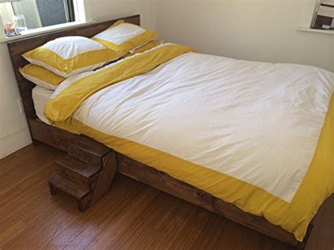 Cal King Rustic Bed Frame Wooden Platform Bed Frame And Headboard Modern And Contemporary Rustic And Reclaimed Style