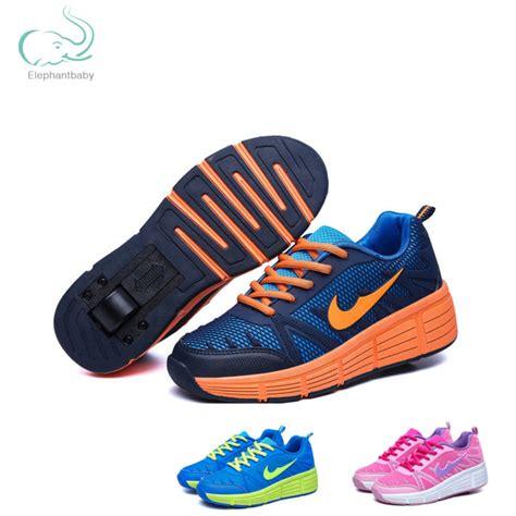 Sepatu Anak Laki Laki 10g2 anak sepatu heelys meluncur sepatu roda dengan roda