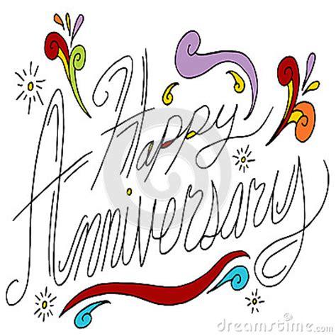 happy anniversary message stock vector image
