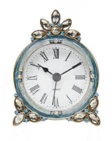jeweled decorative desk clock tick tock