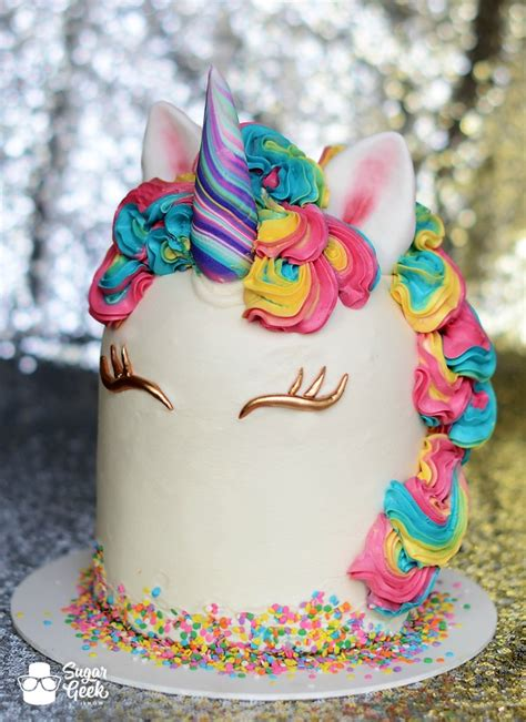 pattern for unicorn cake magically delicious sugar geek show