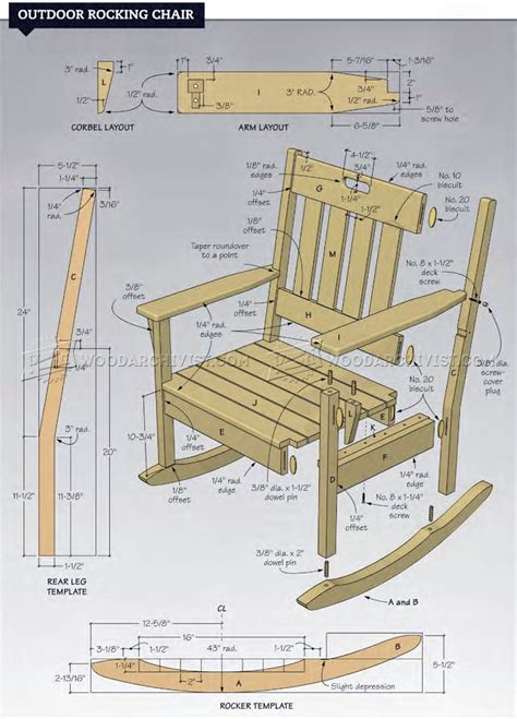 rocking chair design plans free porch rocking chair plans