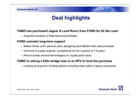tata jaguar deal tata motors jlr deal part1