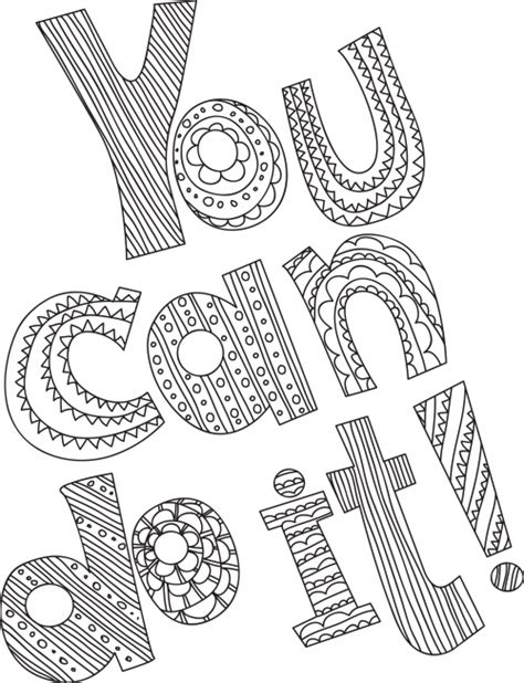 stress relieving coloring pages free printable you can do it stress relief teen and giveaway