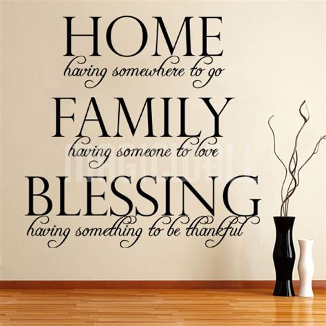 Family Wall Stickers Quotes home family blessing wall quote wall lettering