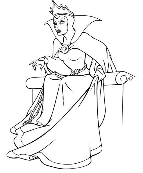 evil queen coloring page snow white and the witch coloring pages coloring pages