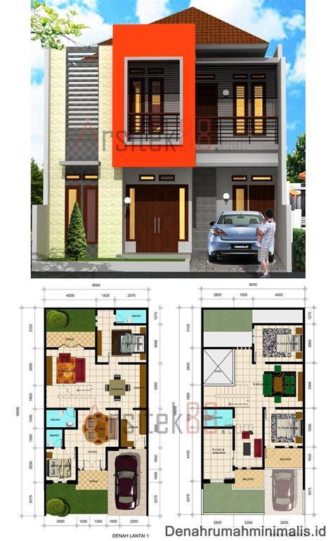 desain rumah ukuran 8x15 1 lantai konsep terbaik denah rumah minimalis 2 lantai modern di