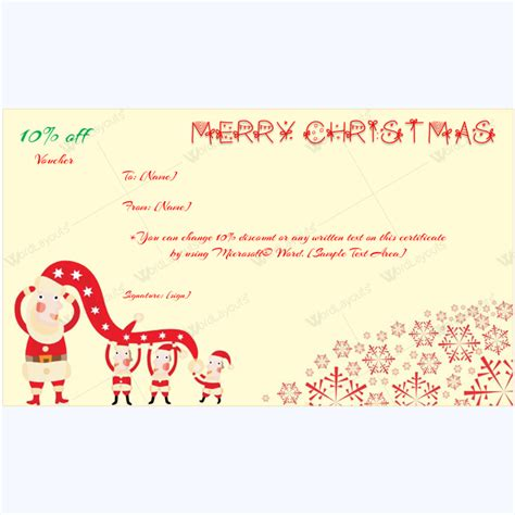Microsoft Word Gift Card Template by Merry Card Template Word Layouts