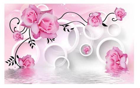 Bunga Violces Pink pink wallpaper bunga 3d 3d mural dinding wallpaper 3d