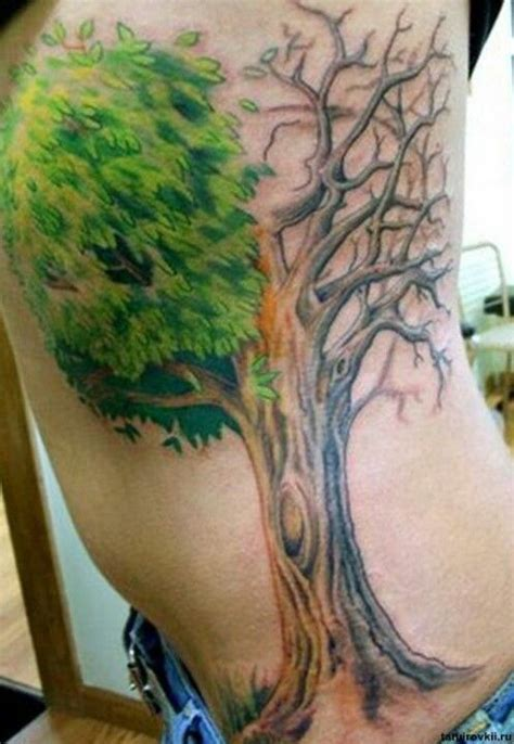 dead tree tattoo meaning half dead half alive tree meaning www pixshark