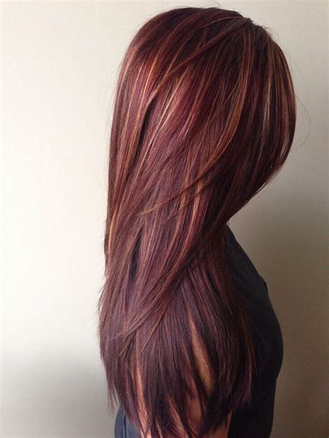 pictures of sapphire black hair with red highlights red highlights hair on pinterest