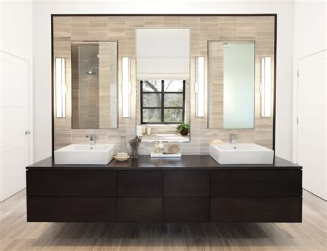 modern furniture bathroom bathroom sink cabinets powder room eclectic with beige