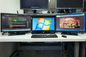 Best Computer Desk For Triple Monitor How To Create An Insane Multiple Monitor Setup With Three