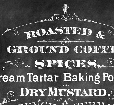 printable chalkboard coffee sign the graphics fairy
