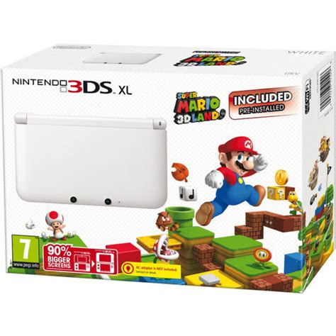 Nintendo 3ds Xl Mario 3d Land Original N3ds nintendo 3ds xl console limited edition white includes mario 3d land pre installed
