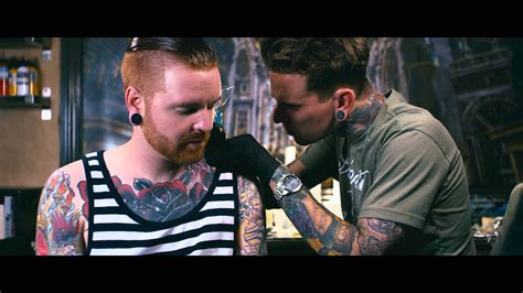 matty mullins tattoos backstage ink matty mullins of may gets a