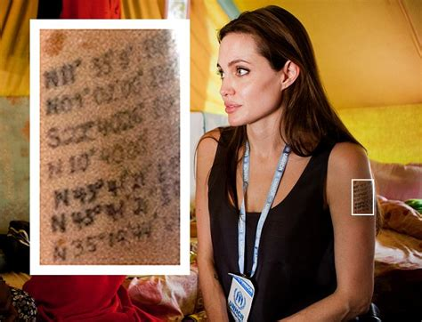 angelina jolie billy bob tattoo choosing on back