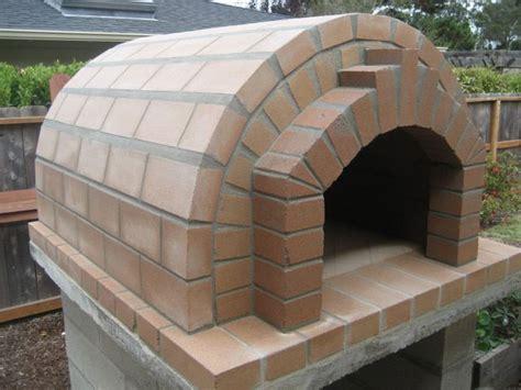 diy wood fired pizza oven design dark walnut wood varnish