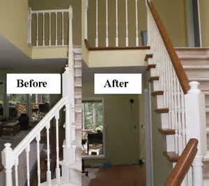 stair makeover refinishing banister stair parts