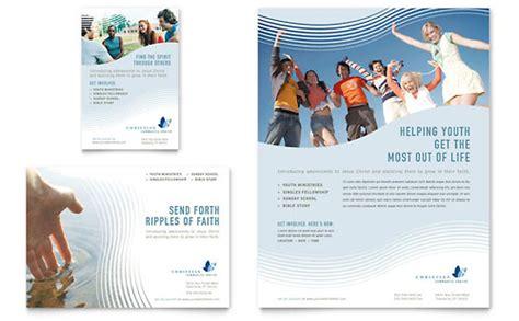 brochure templates religious christian ministry tri fold brochure template design