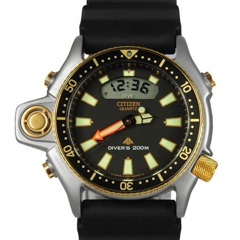 citizens dive watches citizen promaster aqualand depth meter diver jp2004