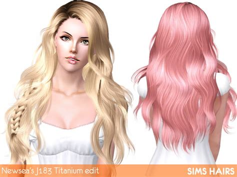 download hair female the sims 3 newsea s j183 titanium hairstyle retextured by sims hairs