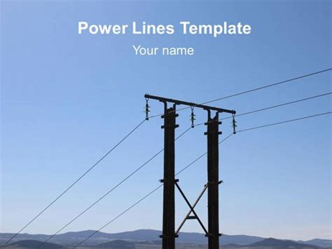 templates powerpoint electricity power lines powerpoint template