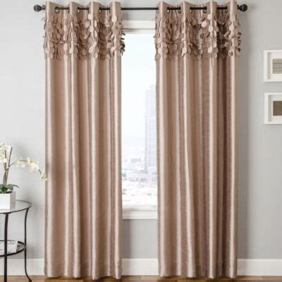 lazio faux silk grommet top curtain panel