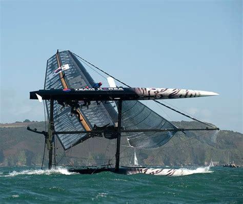catamaran capsize america s cup catamarans capsize during racing in strong